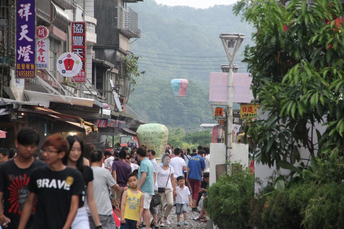 Shifen Lanterns Town, Pingxi, (平溪放天燈),Taiwan